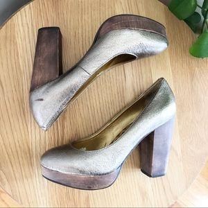 Seychelles Platform Metallic Heels